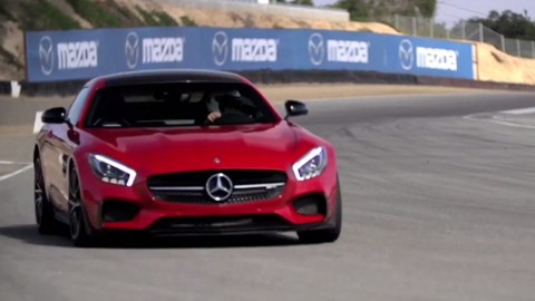 Chris Harris and the Mercedes-AMG GT