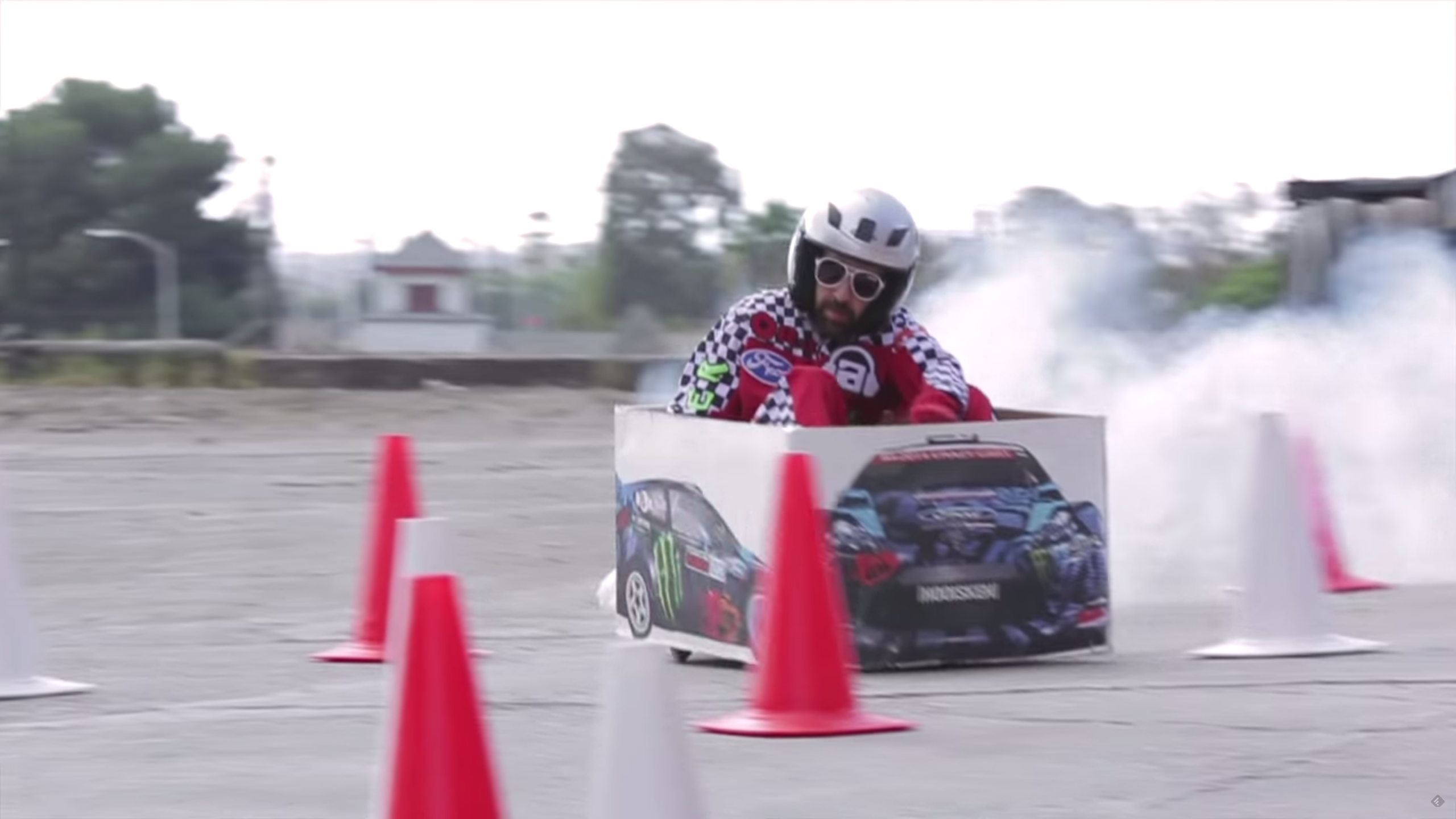 Ken Box is back with more Crazy Cart gymkhana