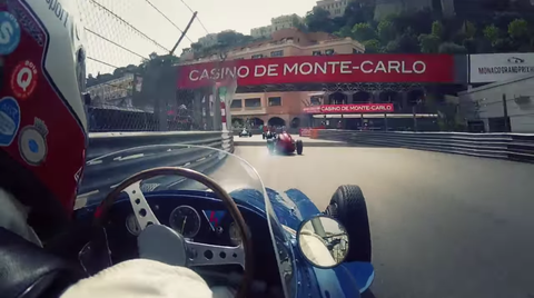 Ex-DTM driver Frank Stippler drives a Maserati 250F at Monaco