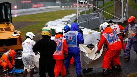 Jules Bianchi Crash at the Japanese Grand Prix