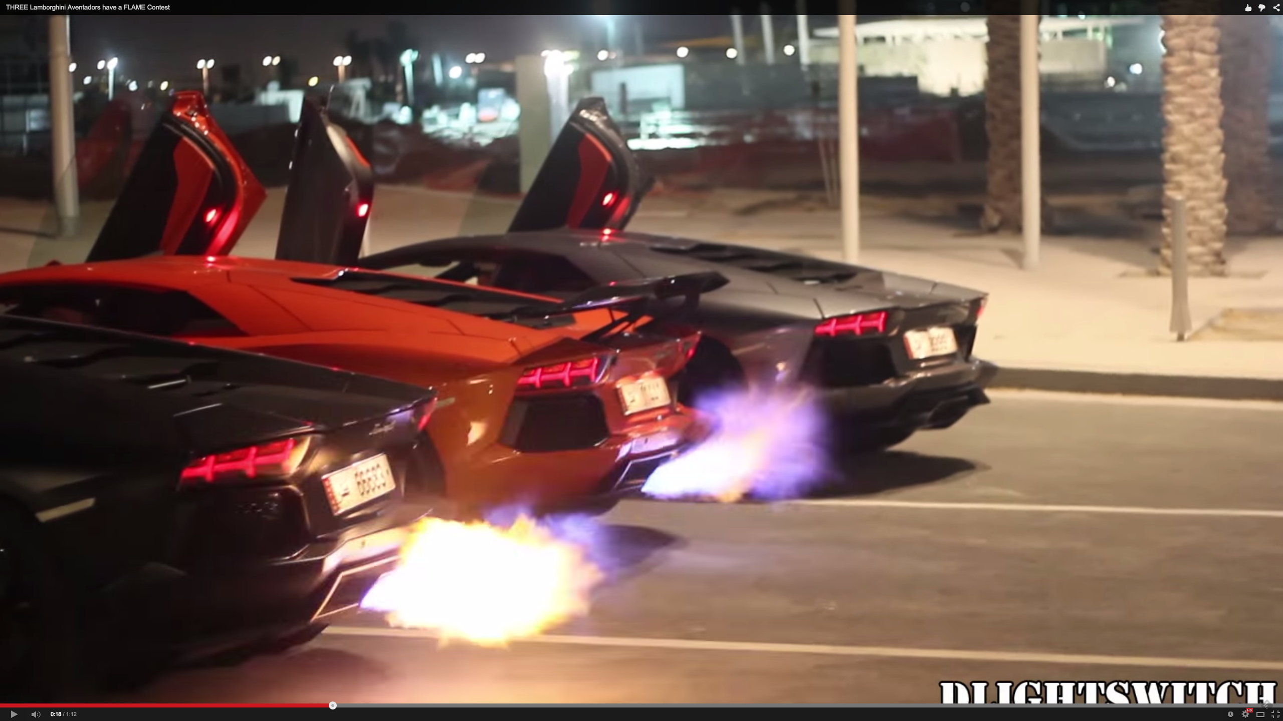 lamborghini trio gets into the best kind of flame war