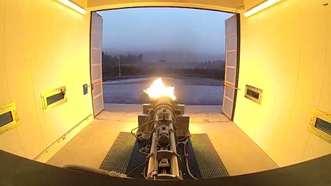 Nammo Testing of Bloodhound SSC Rocket Motor