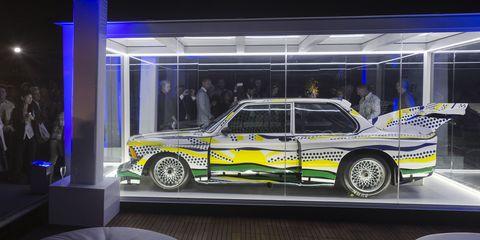 Lichtenstein BMW Art Car at 2014 Art Basel Miami