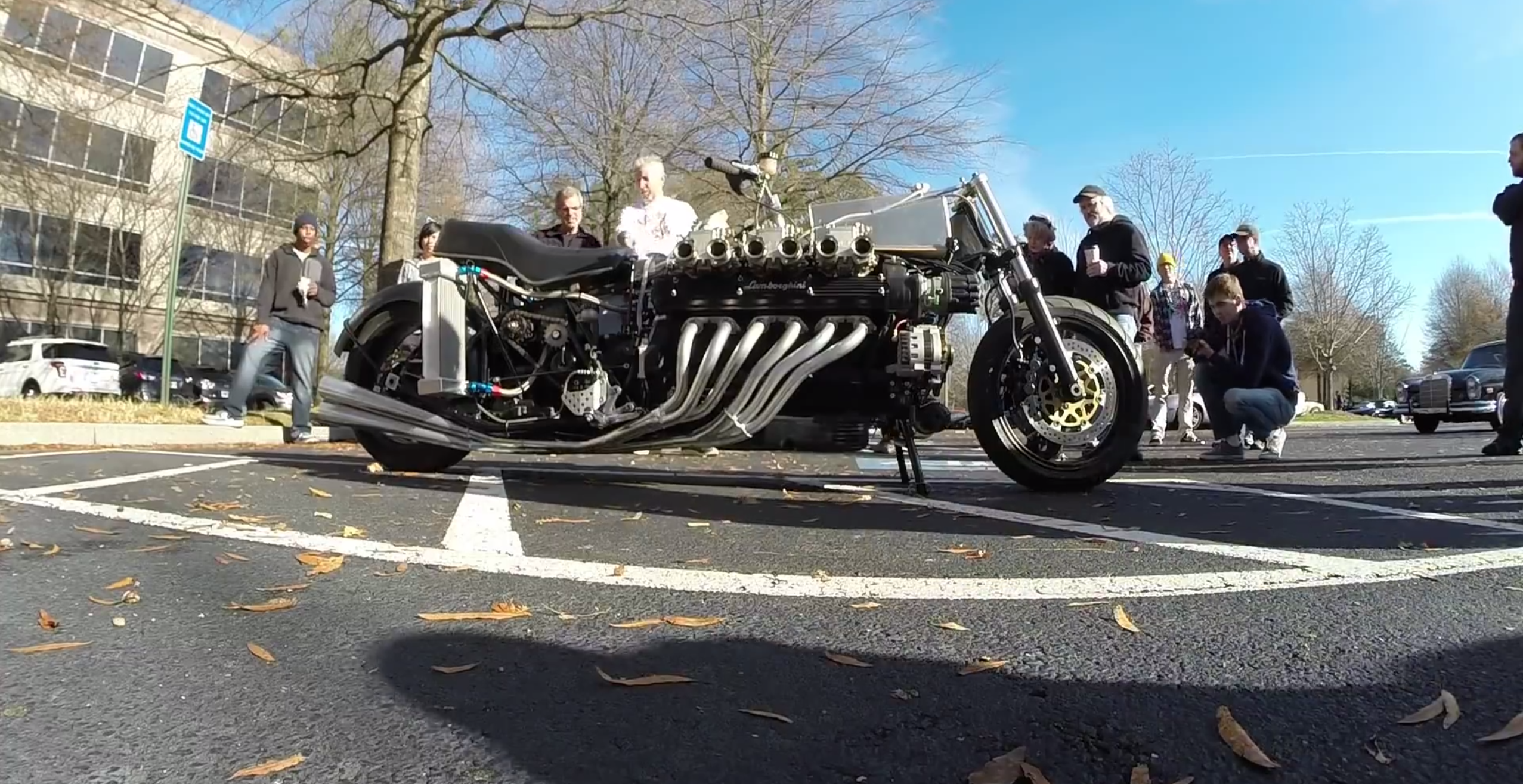 Yes That S A Lamborghini V12 In A Motorcycle