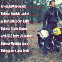 Motorcycle ride gear for Ducati Scrambler