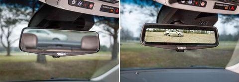 Cadillac video rear view mirror