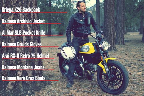 Motorcycle ride gear for Ducati Scrambler