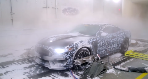 2016 Ford Mustang Shelby GT350 cold weather testing