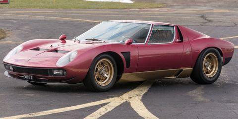 Lamborghini Miura SVJ at auction