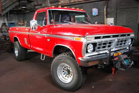 """The Highboy is one of the toughest-looking Ford trucks of all time. We love its sky-high stature and ultra-rugged drivetrain. You could bolt on a massive 35-inch tall tire under these trucks without lifting the suspension. These trucks sat a few inches taller than the ¾-ton trucks from GM, Dodge and Jeep, too.  <br /><br /> After 1977.5, the F-250 was revised with a new frame, suspension, and drivetrain that lowered new F-250s. So from that point on, the older F-250s were known as """"Highboys"""" and the new trucks that sat 2-inches lower were """"Lowboys"""". Many of these early tall F-250s came with Ford's 360 V-8 paired to either a sturdy C6 automatic or a """"granny low"""" NP 435 4-speed manual.  <br /><br /> It might seem odd that a heavy-duty pickup truck from the 1970s could begin to interest truck collectors, but the cool stance, durability, and lore of these """"Highboy"""" Ford Trucks have made restored or low-mile examples very desirable. <br /><br />"""