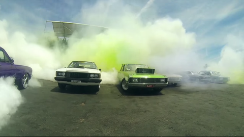 103 Car Simultaneous Burnout Sets New World Record