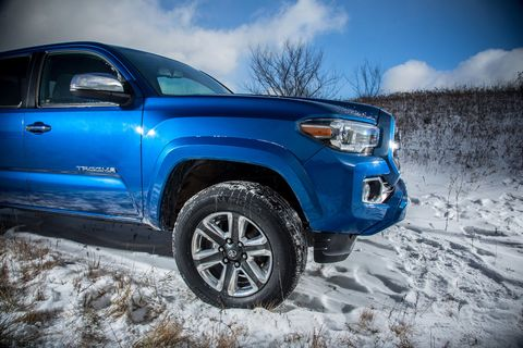 Significant sculpting to the wheel arch and a character line at headlight level on the fender are evolutionary, rather than revolutionary, themes carried over from the old Tacoma.