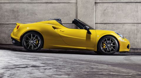 2015 Alfa 4c Spider Loses Top With Tiny Weight Gain