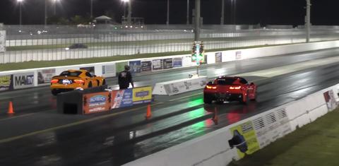 Watch a Corvette Z06 vs Viper T/A dragstrip throwdown
