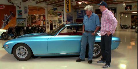 Jay Leno takes a spin in Adam Carolla's Lamborghini