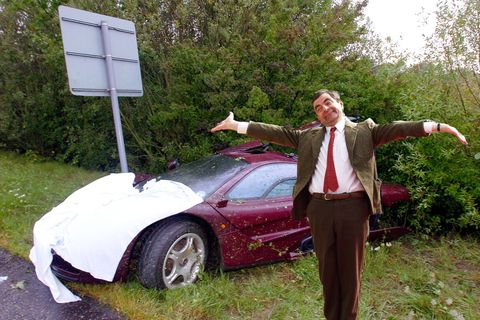 Mr. Bean's twice-wrecked McLaren F1 sells for $12 million