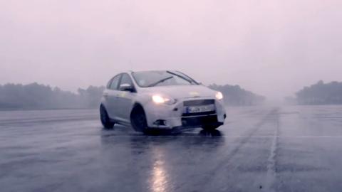 Watch Ken Block slide the 2016 Ford Focus RS around