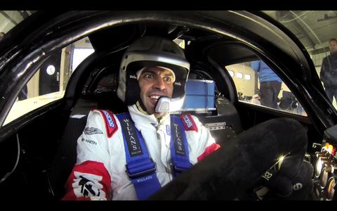 Chris Harris drives the Daytona-winning Jaguar XJR-9