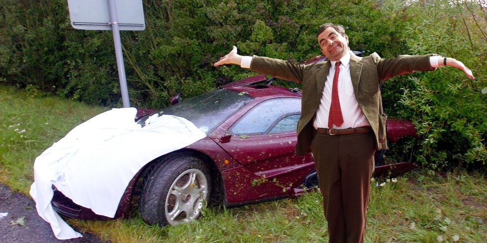 you can buy mr beans twicewrecked dailydriver mclaren f1