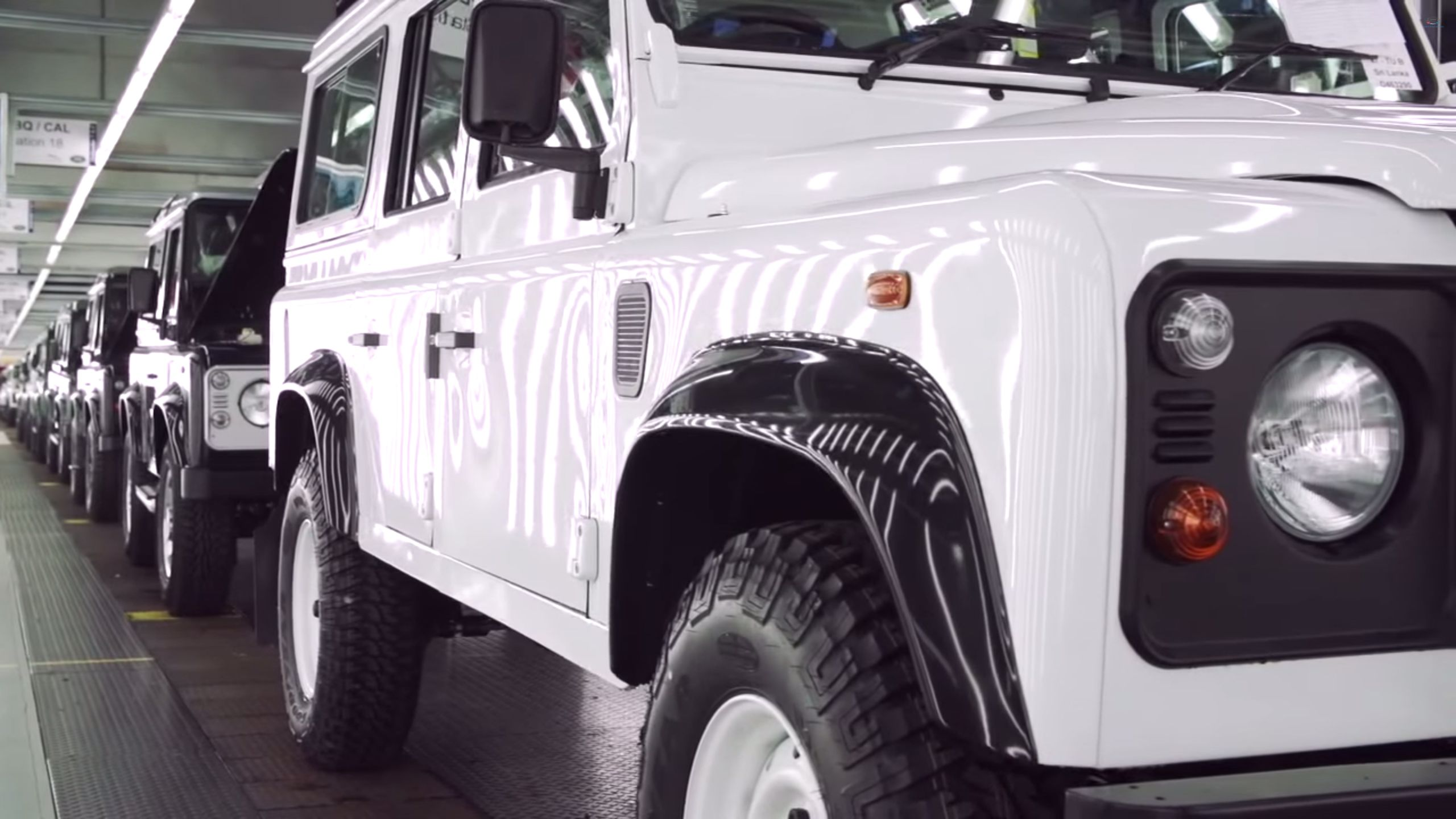 Watching Land Rover Defenders assembled by hand is strangely soothing