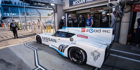 LE MANS, France (June 14, 2014) – Nissan made history at Le Mans this morning with the revolutionary Nissan ZEOD RC recording the first ever all electric lap of Le Mans.