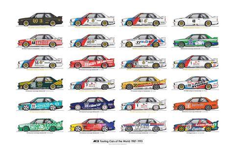 8380 Laboratories World Touring Car M3 Champions Poster