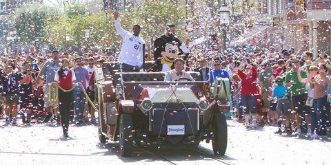 Malcolm Butler and Julian Edelman at Disneyland