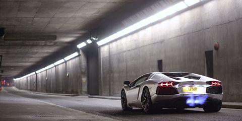 Lamborghini turns empty tunnel into a launch tube