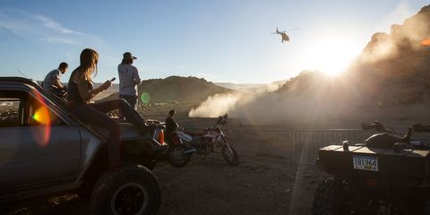 King of the Hammers helicopter