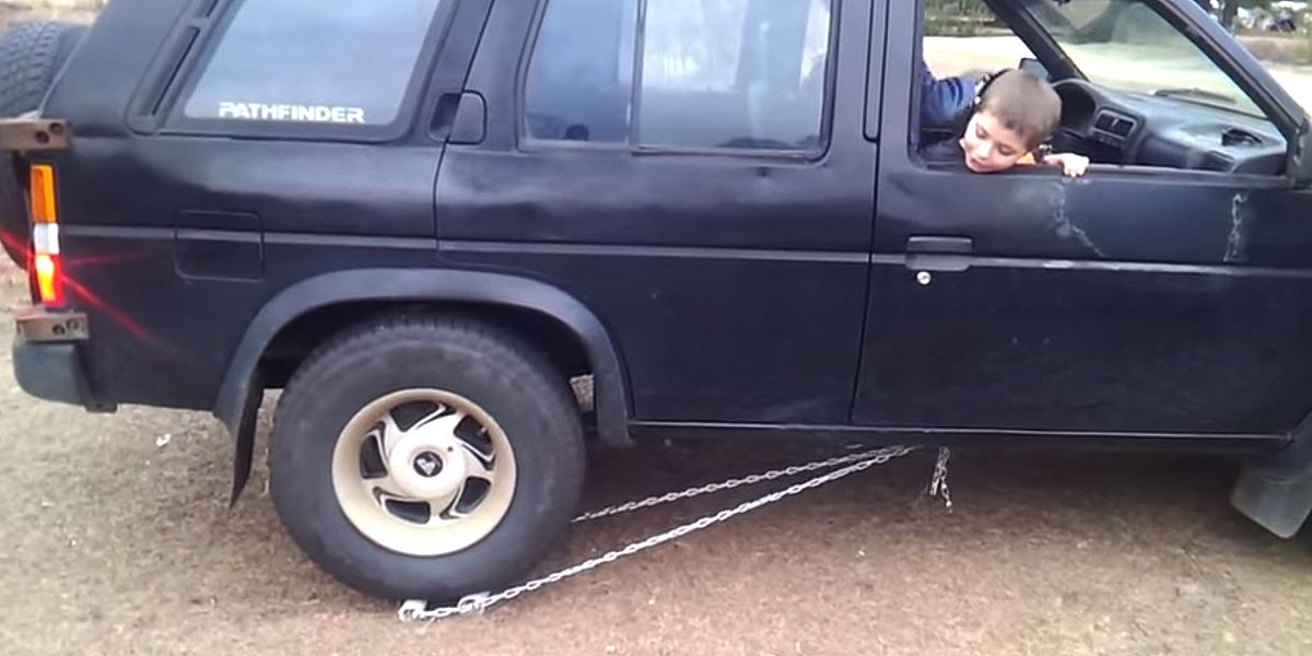 This backyard fix for a broken reverse gear is brilliant
