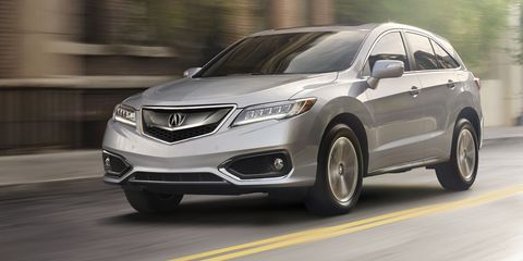 Shot Description Front 3/4 Rig , Project Name 2BS shoot, Job Number ACN1-RDX-14-08428_2BS, Model Year 2016, Model RDX, Trim Level Advance, Exterior Color Slate Silver Metallic, Interior Color Greystone, Date 1/26/15, Photographer Brian Konoske, Location / StudiLong Beach, 