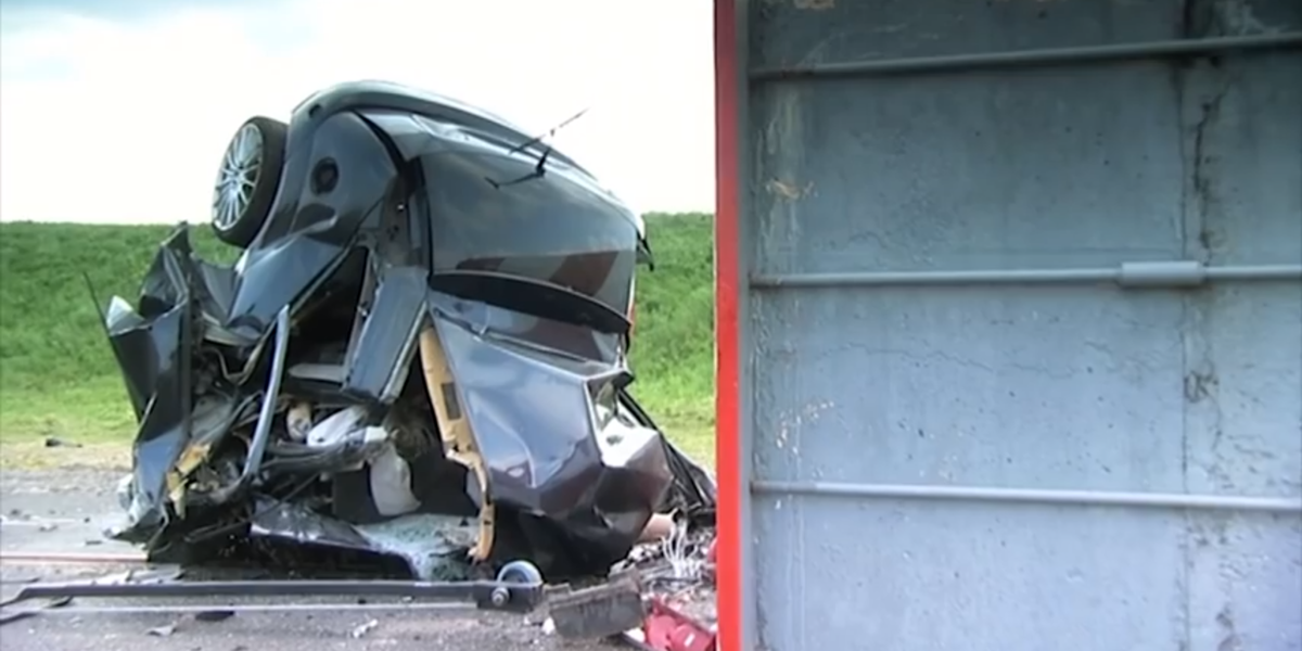 Watch What Happens When A Car Hits A Wall At 120 Mph