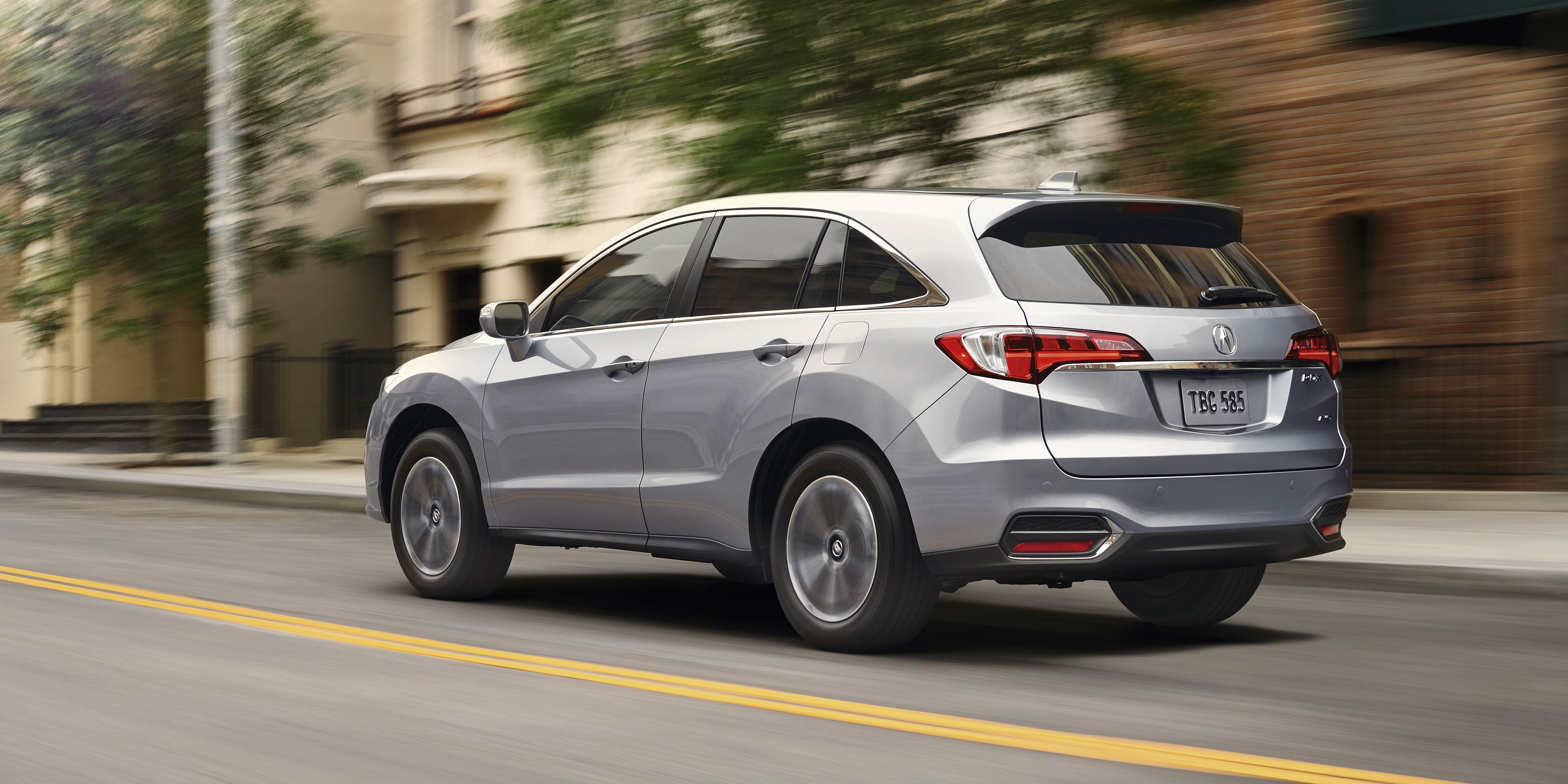 Shot Description Rear 3/4 Rig , Project Name 2BS shoot, Job Number ACN1-RDX-14-08428_2BS, Model Year 2016, Model RDX, Trim Level Advance, Exterior Color Slate Silver Metallic, Interior Color Greystone, Date 1/26/15, Photographer Brian Konoske, Location / StudiLong Beach, 