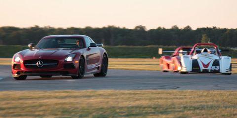 Radical SR3 RS and Mercedes-Benz SLS AMG