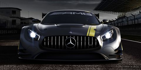 This is the new Mercedes-AMG GT3 race car