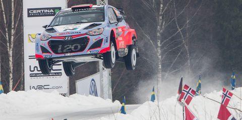 WRC Rally Sweden jumps