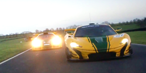 Watch the McLaren P1 GTR and F1 GTR play on track