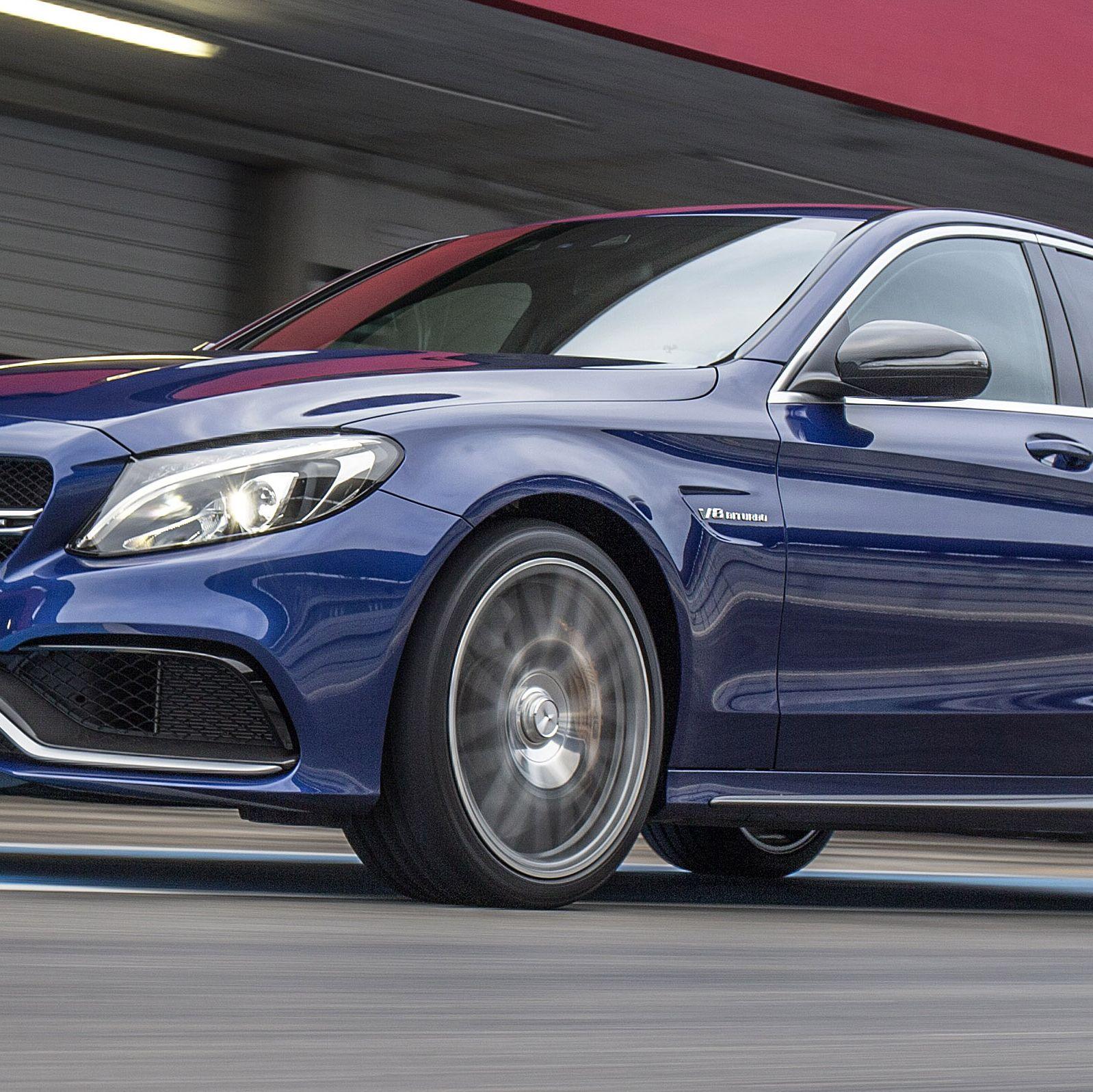 Mercedes-AMG C 63 S&#x3B; Fahrvorstellung Portimao 2015&#x3B; brillantblau metallic&#x3B; Leder Nappa schwarz