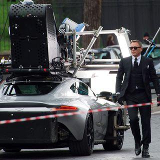 aston martin james bond daniel craig. daniel craig as james bond with the aston martin movie car from spectre