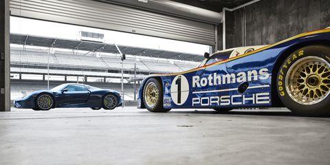 Porsche 918 Spyder and 962 at Indy