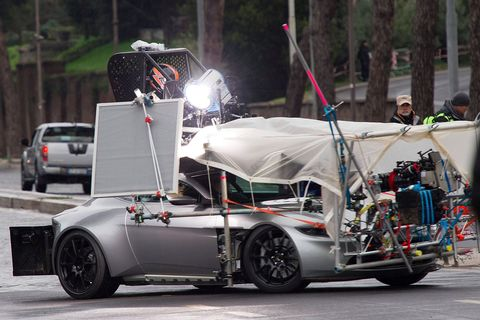 Bond cars caught on location in Rome
