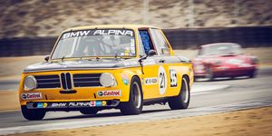 Sam Smith in the Alpina prepared BMW 2002ti at the Rolex Monterey Motorsports Reunion