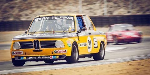 Sam Smith in the Alpina prepared BMW 2002ti at the Rolex Monterey Motorsports Reunion
