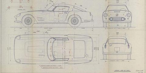Buy these classic ferrari 250gt daytona blueprints malvernweather Images