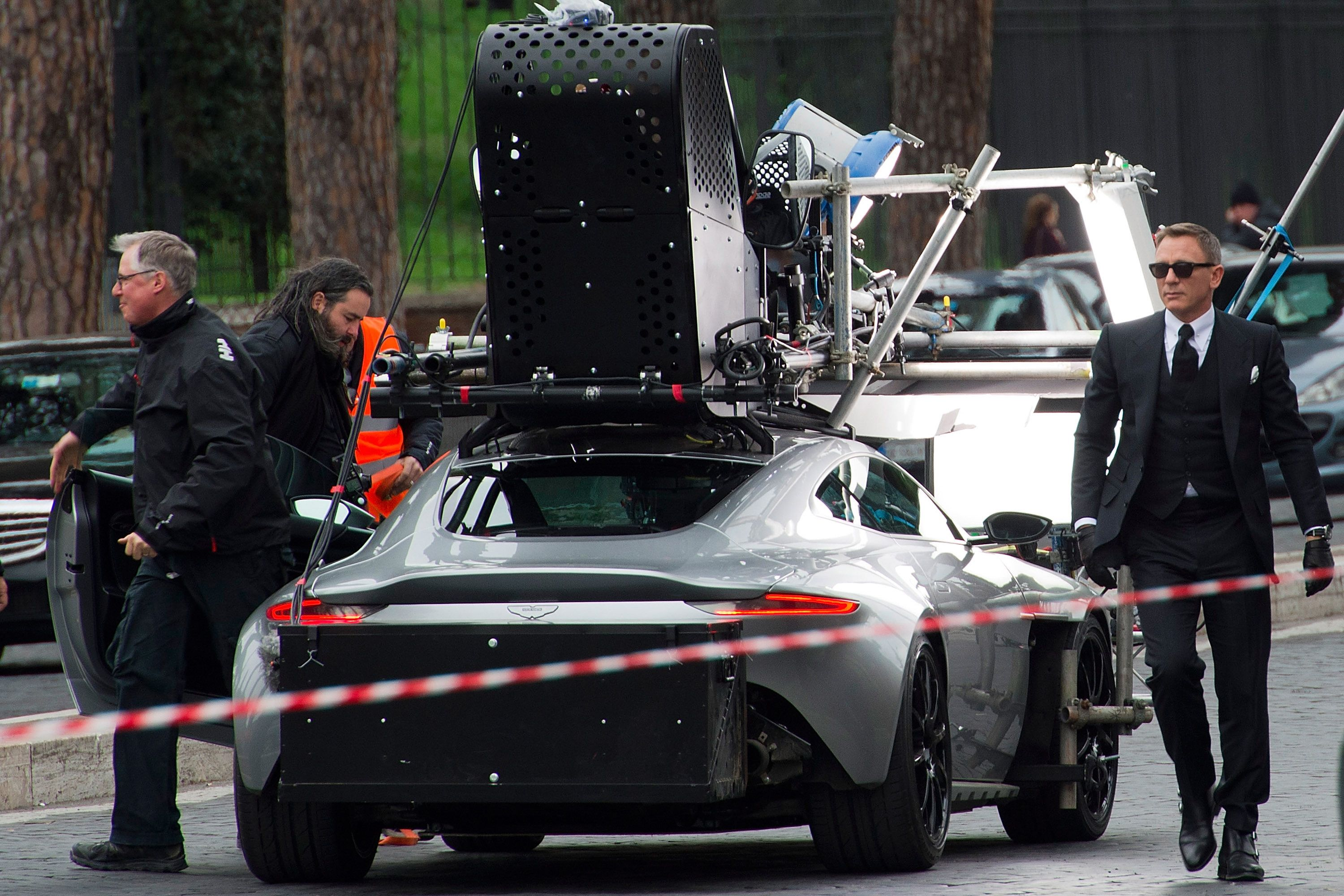 bond behind the scenes: spectre's movie cars hit rome