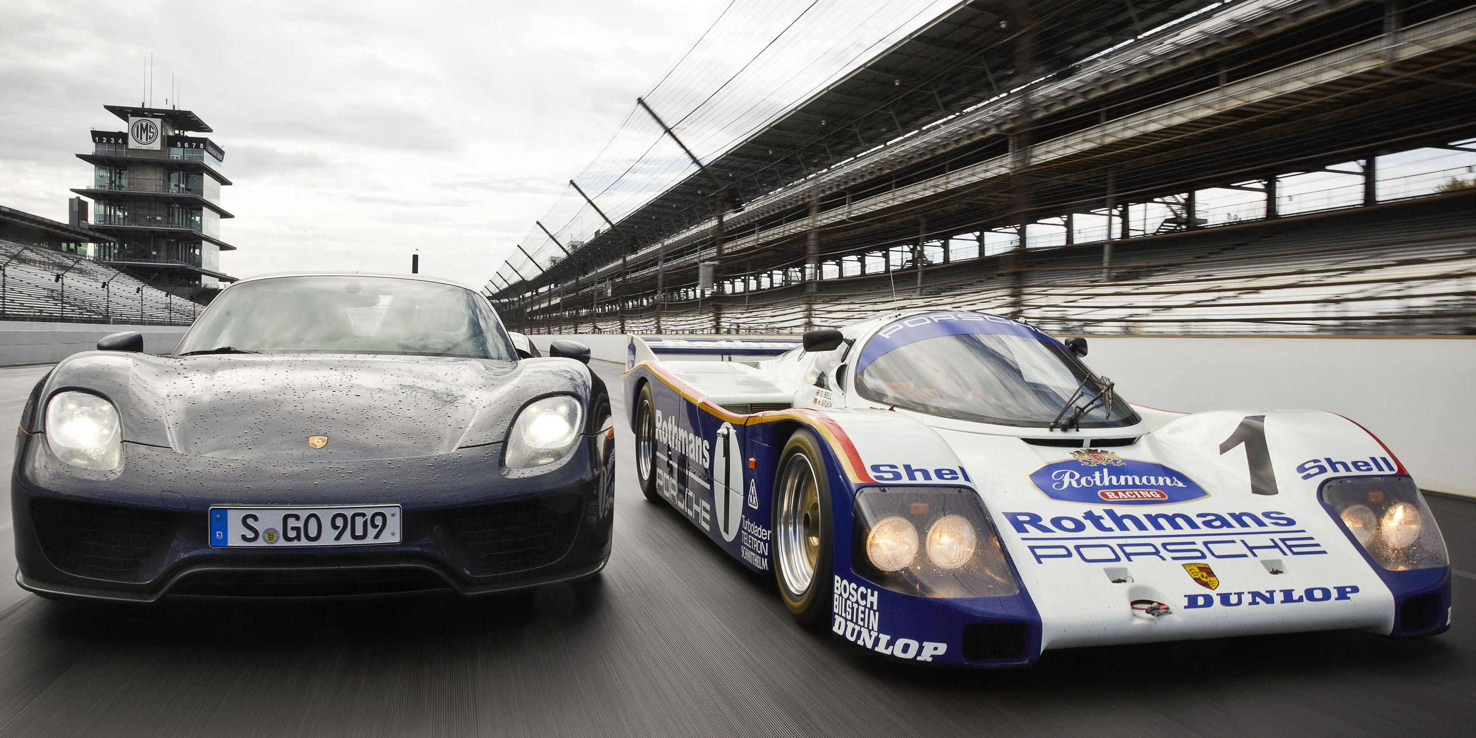 Legends: the Porsche 962 and 918 face off at Indy