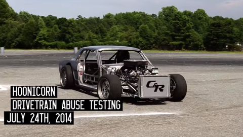 The Hoonicorn Mustang is just as evil with no bodywork