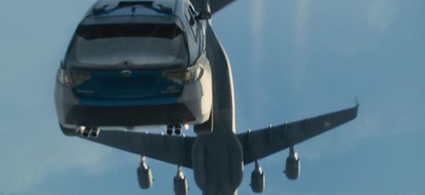 Watch Paul Walker drive out of a plane in Furious 7