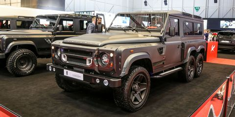 The 6x6 Land Rover Defender is just SO weird-looking