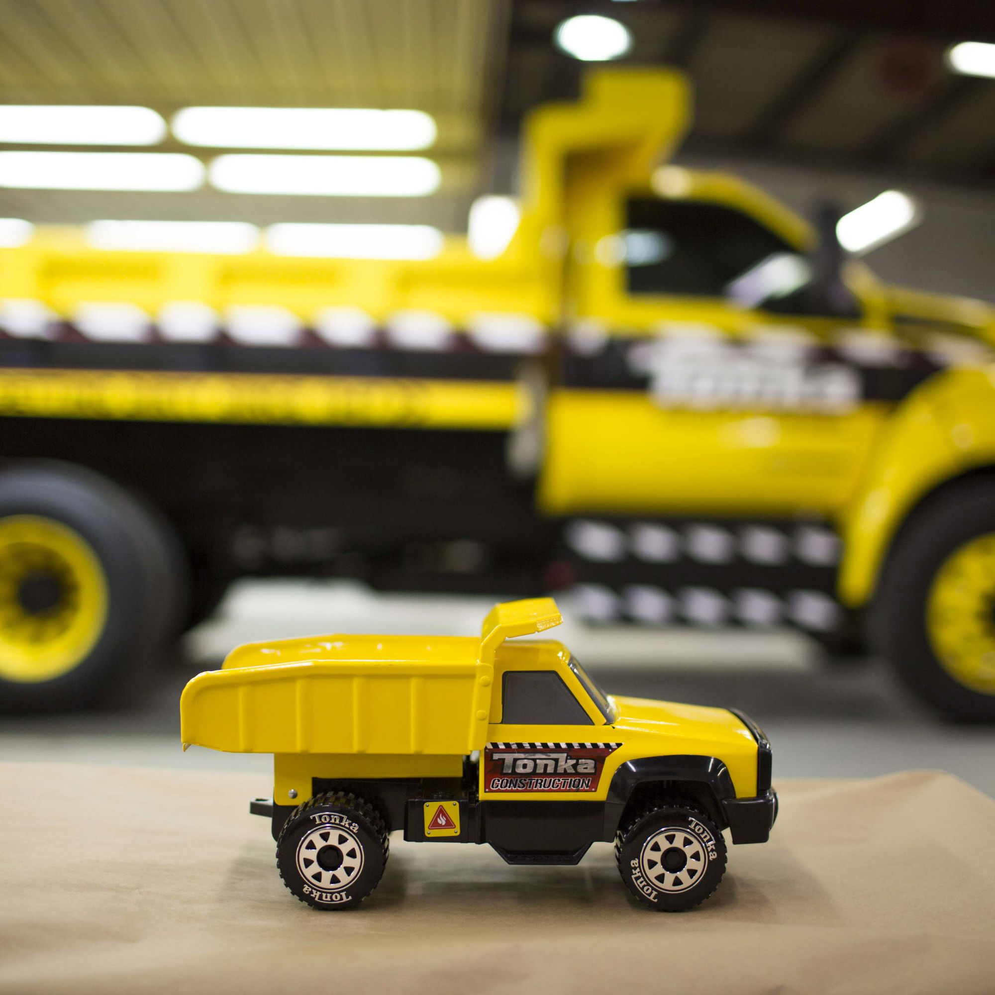 The mighty Ford F-750 TONKA truck – which will be on display at major work truck, commercial and vocational trade shows through the end of the year – is a collaboration between Ford and Funrise Toy Corporation,The mighty Ford F-750 TONKA truck – which will be on display at major work truck, commercial and vocational trade shows through the end of the year – is a collaboration between Ford and Funrise Toy Corporation